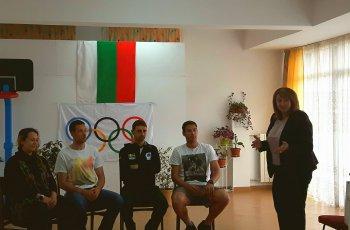 Олимпийците на Чепеларе се срещнаха с млади надежди