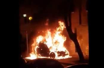 Изгорелият джип в Кючука каран от жена с дете