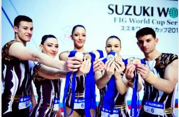 Хасковски състезатели по аеробика блестят в новия спектакъл на Нешка Робева