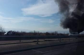 МВР разкри подробности за пламналия бус на магистралата