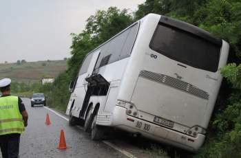 Ужас! Автобусът за Марково се катурна в канавка