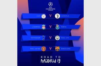Юве - Аякс, Барса - Ман Юн на четвъртфиналите в Шампионската лига