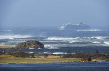 Ужасяващи кадри от бедстващия кораб до Норвегия