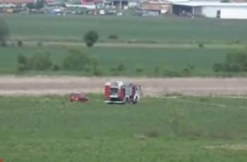 Вижте мястото, където се разби самолетът край Ихтиман