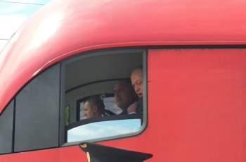 Борисов подкара влака от Пазарджик за Бургас СНИМКИ
