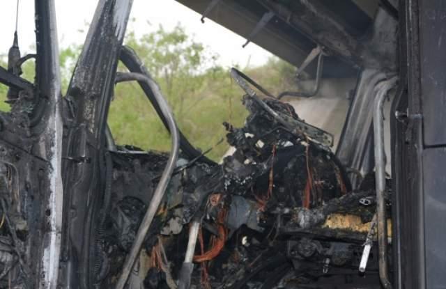 "Камион пламна на магистрала ""Марица"""
