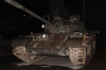 "Пиян ""превзе"" град с руски танк"
