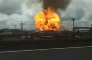 Огромен пожар избухна в руска ТЕЦ