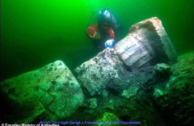 """""""Египетската Атлантида"""" разкри една от тайните си СНИМКИ - 3"""