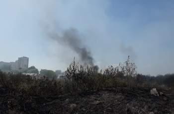 """Огън от горящи гуми заплашва да подпали """"Изгрев"""" СНИМКИ и ВИДЕО"""