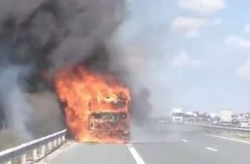"""Камион се запали на АМ """"Струма"""""""