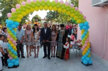 В деня на Вяра, Надежда, Любов кметът Димитър Иванов зарадва децата на с. Строево с прекрасна нова детска градина