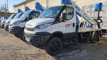 Високопроходими вишки достави ЕVN в Димитровград и Харманли