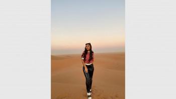 Драгана Спасовска заведе гаджето в пустинята