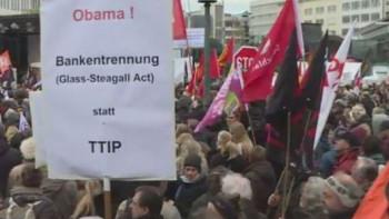 """Хиляди в акция """"Обама и Меркел идват: спрете TTIP и CETA!"""""""