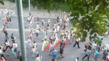 Протестът в Пловдив блокира ключово кръстовище СНИМКИ