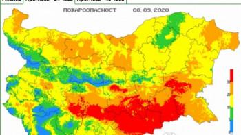 Опасност от пожари в Пловдив и още 7 области