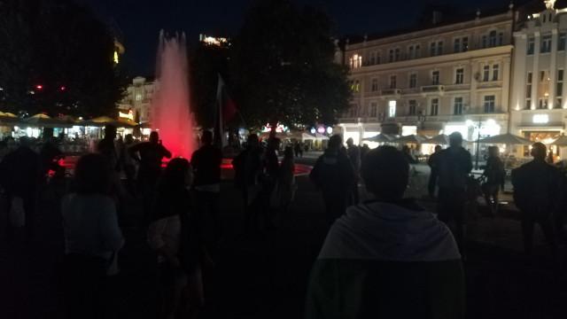 Дузина протестиращи в Пловдив тази вечер