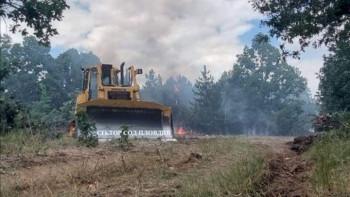 Пловдивски пожарникари борят огнена стихия в Хасково
