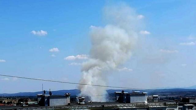 Пламна пореден пожар край Ерозията в Хасково