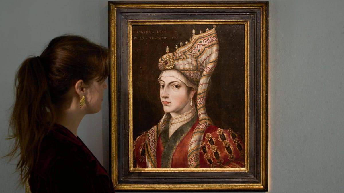Рядка картина на Хюрем Султан, известна на Запад като Рокселана,
